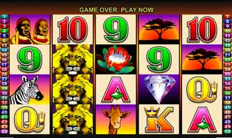 50 Lions Pokie machine from Aristocrat