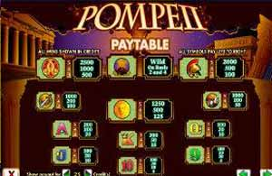 Find your winning combinations for Pompeii pokie