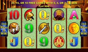 Online game review of Pompeii Pokie from Aristocrat