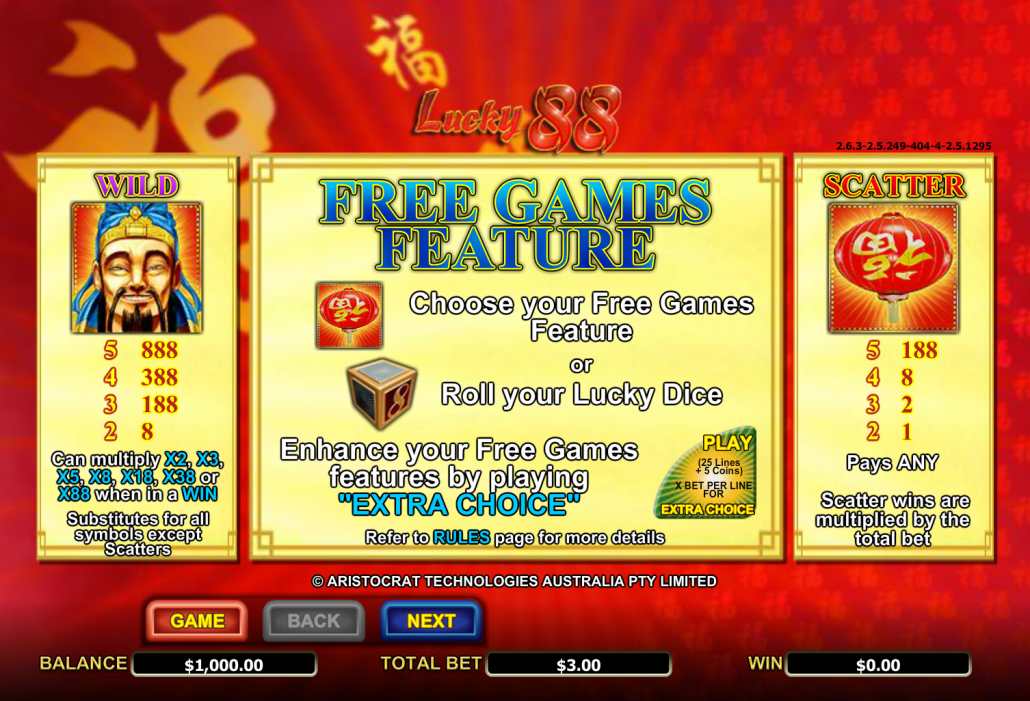 Free online pokies lucky 88 sign up bonus codes for