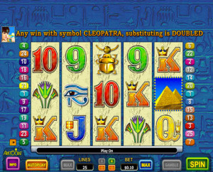Queen of the Nile 2 Pokie, Main Screen
